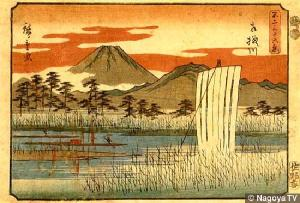 hiroshige-36-views-of-mt-fuji-sagami-riverx600